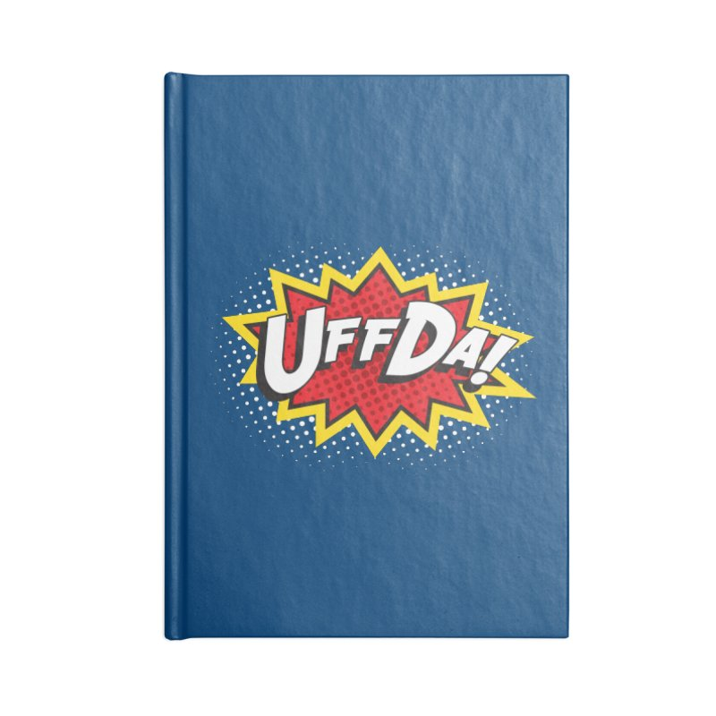 Uffda Burst Accessories Notebook by Logo Mo Doodles, Drawings, and Designs