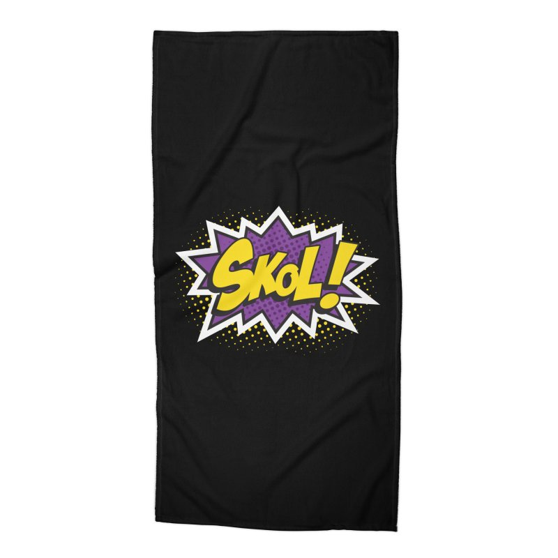 Skol Burst Accessories Beach Towel by Logo Mo Doodles, Drawings, and Designs