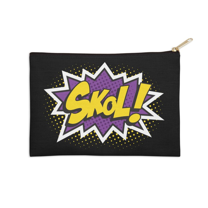 Skol Burst Accessories Zip Pouch by Logo Mo Doodles, Drawings, and Designs