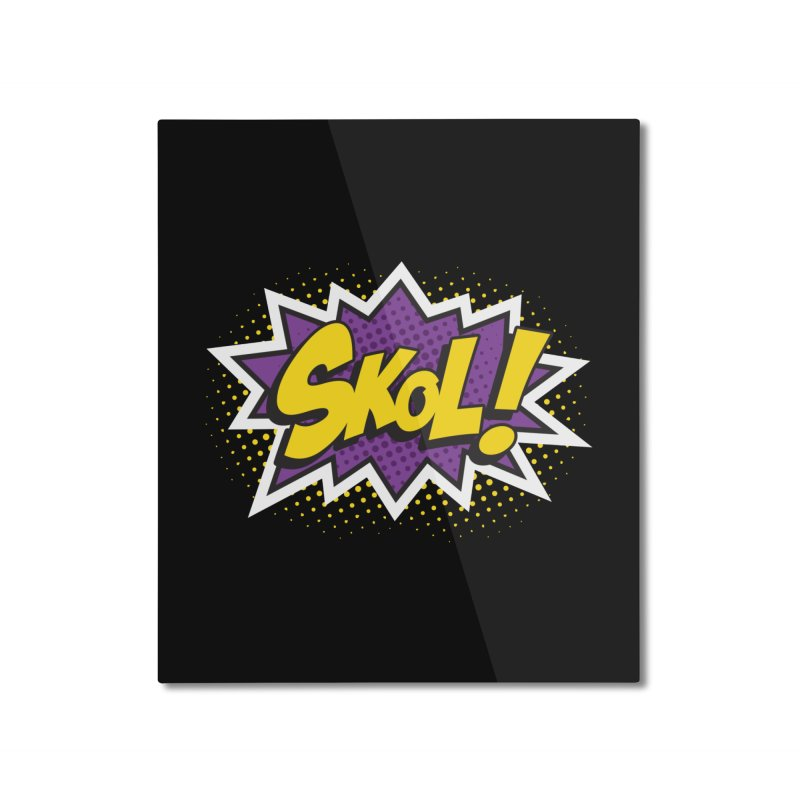 Skol Burst Home Mounted Aluminum Print by Logo Mo Doodles, Drawings, and Designs
