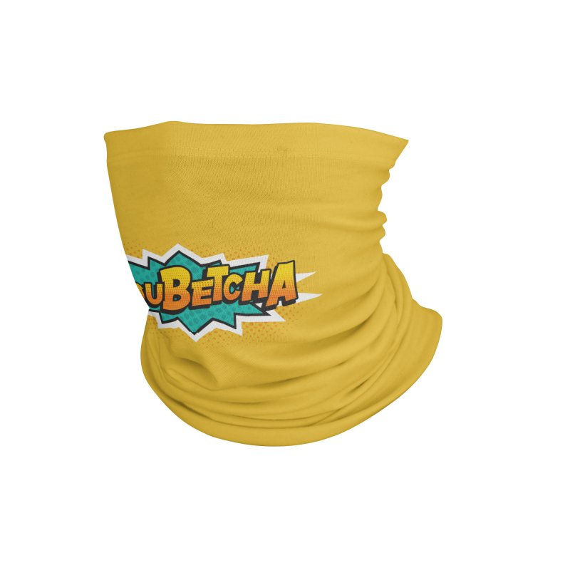 Youbetcha Burst Accessories Neck Gaiter by Logo Mo Doodles, Drawings, and Designs