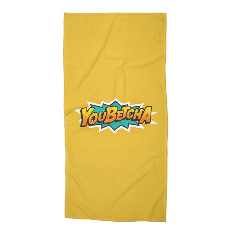 Youbetcha Burst Accessories Beach Towel by Logo Mo Doodles, Drawings, and Designs