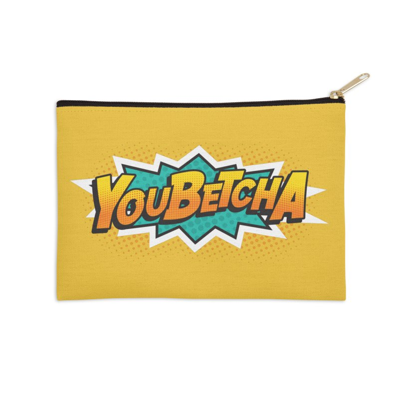 Youbetcha Burst Accessories Zip Pouch by Logo Mo Doodles, Drawings, and Designs
