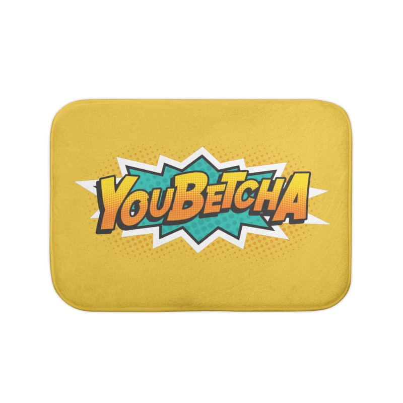 Youbetcha Burst Home Bath Mat by Logo Mo Doodles, Drawings, and Designs