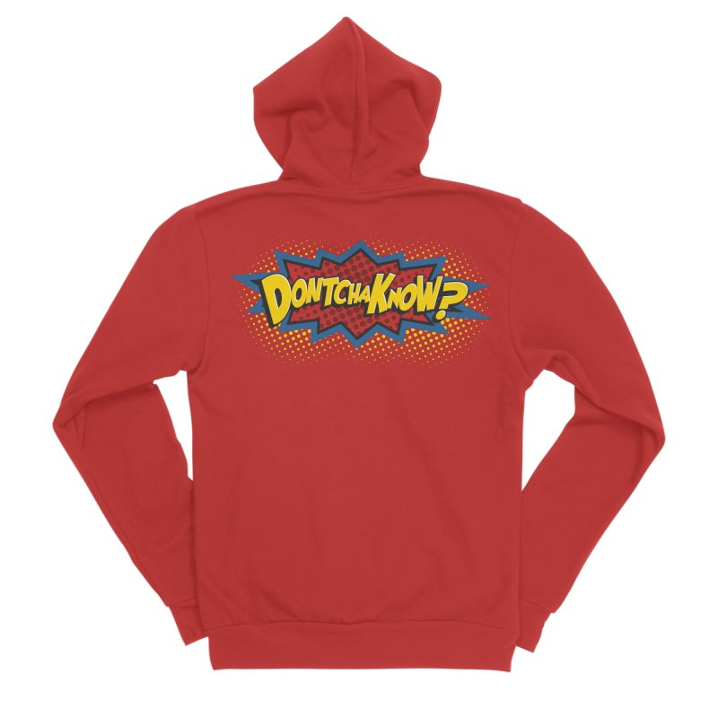 Dontchaknow Burst Women's Zip-Up Hoody by Logo Mo Doodles, Drawings, and Designs