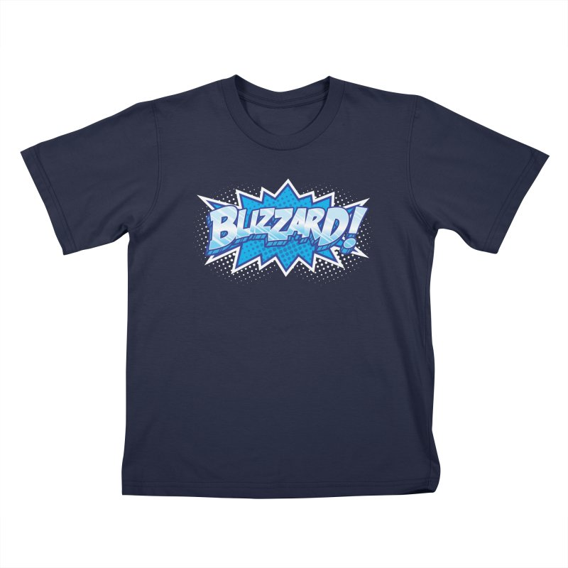 Blizzard Burst Kids T-Shirt by Logo Mo Doodles, Drawings, and Designs