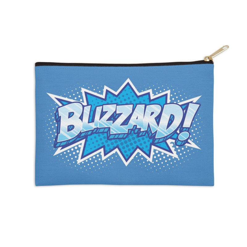Blizzard Burst Accessories Zip Pouch by Logo Mo Doodles, Drawings, and Designs