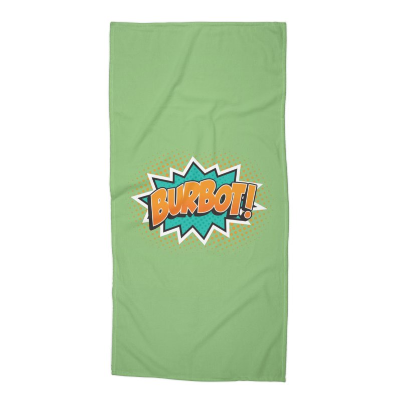 Burbot Burst Accessories Beach Towel by Logo Mo Doodles, Drawings, and Designs