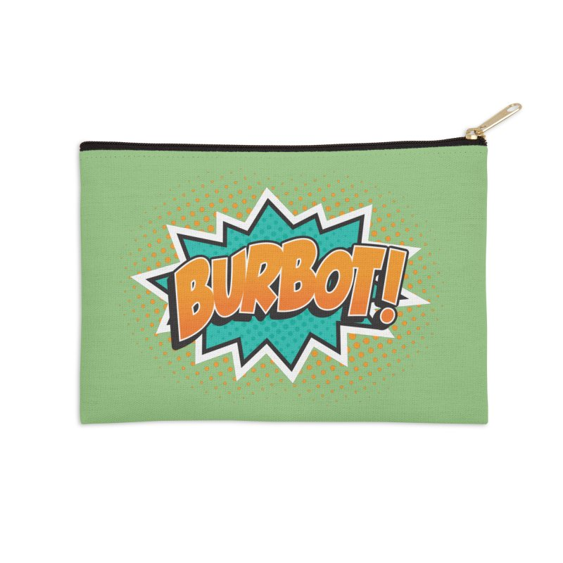 Burbot Burst Accessories Zip Pouch by Logo Mo Doodles, Drawings, and Designs