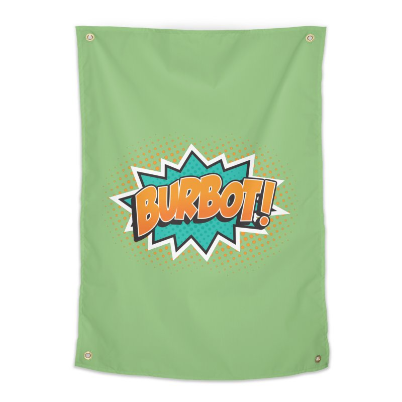 Burbot Burst Home Tapestry by Logo Mo Doodles, Drawings, and Designs