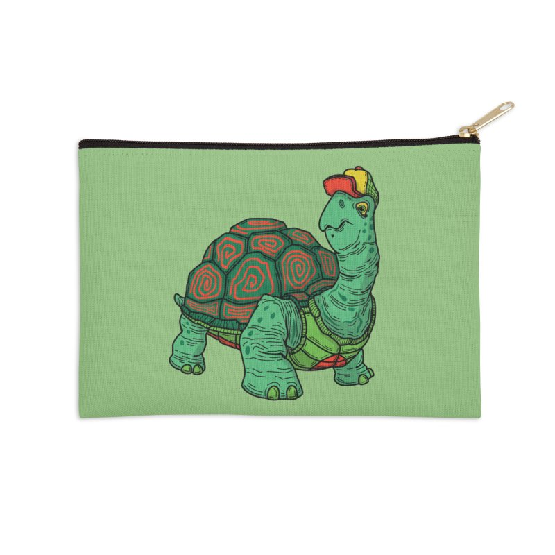 Hipster Turtle Shirts Accessories Zip Pouch by Logo Mo Doodles, Drawings, and Designs