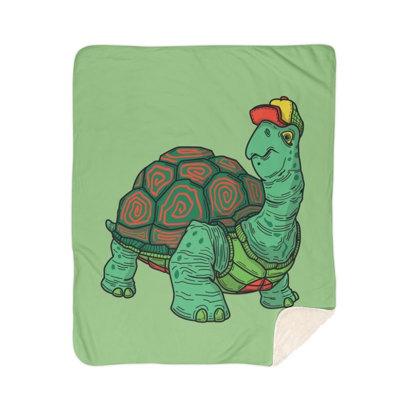 Hipster Turtle Shirts Home Sherpa Blanket Blanket by Logo Mo Doodles, Drawings, and Designs