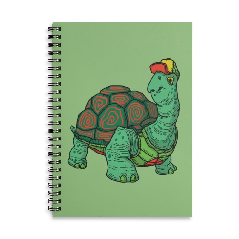 Hipster Turtle Shirts Accessories Lined Spiral Notebook by Logo Mo Doodles, Drawings, and Designs