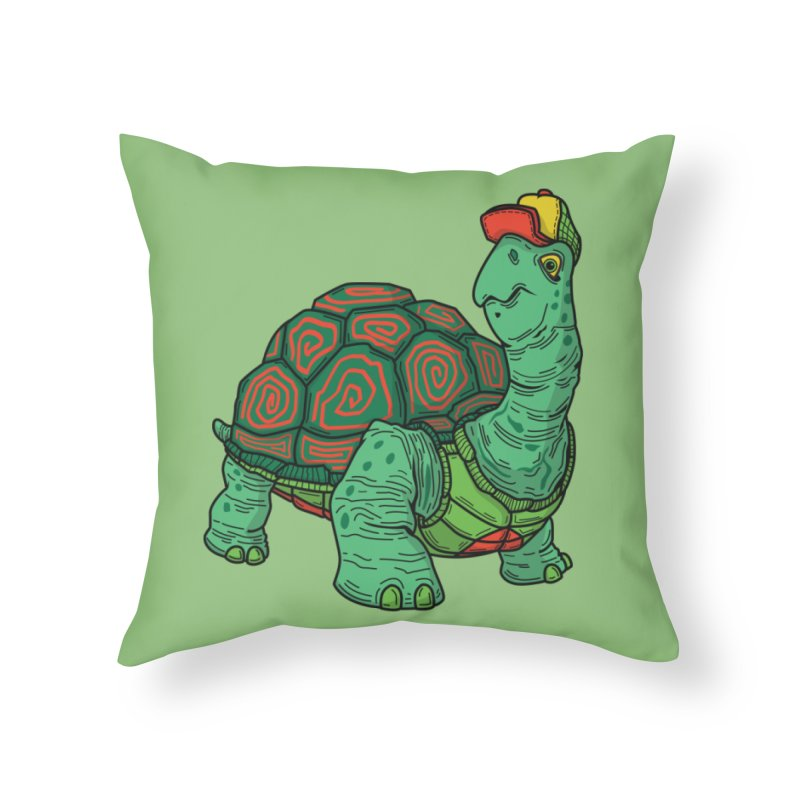 Hipster Turtle Shirts Home Throw Pillow by Logo Mo Doodles, Drawings, and Designs