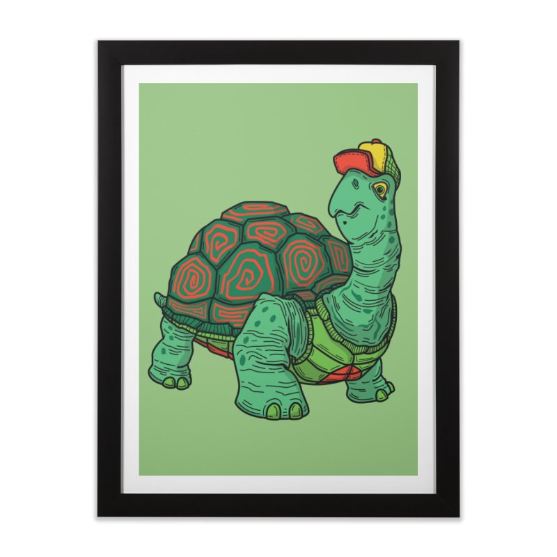 Hipster Turtle Shirts Home Framed Fine Art Print by Logo Mo Doodles, Drawings, and Designs