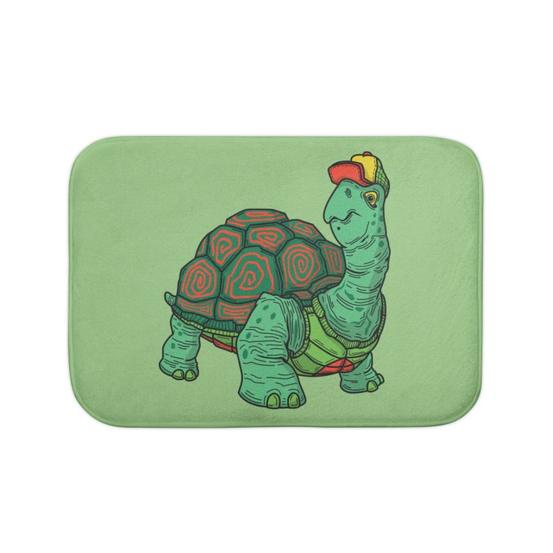 Hipster Turtle Shirts Home Bath Mat by Logo Mo Doodles, Drawings, and Designs