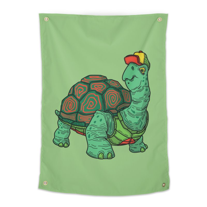 Hipster Turtle Shirts Home Tapestry by Logo Mo Doodles, Drawings, and Designs