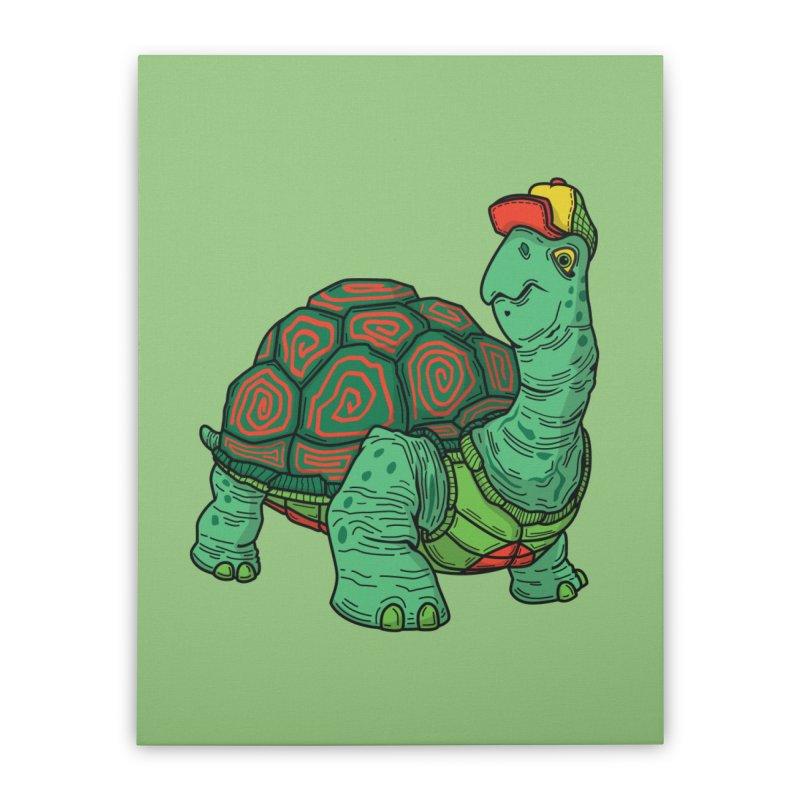 Hipster Turtle Shirts Home Stretched Canvas by Logo Mo Doodles, Drawings, and Designs