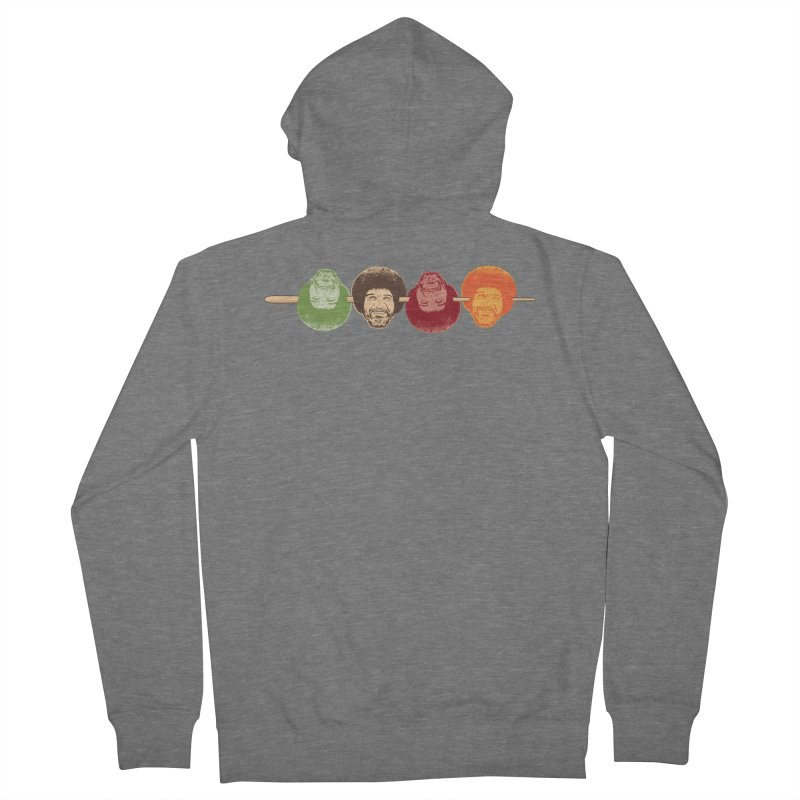Shish KeBob Ross Women's French Terry Zip-Up Hoody by Logo Mo Doodles, Drawings, and Designs