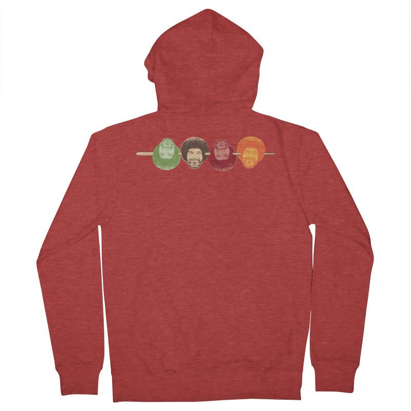 Shish KeBob Ross Men's French Terry Zip-Up Hoody by Logo Mo Doodles, Drawings, and Designs