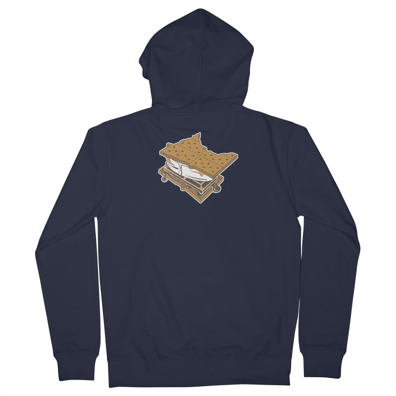 MinneS'moreta Star of the S'moreth Men's French Terry Zip-Up Hoody by Logo Mo Doodles, Drawings, and Designs