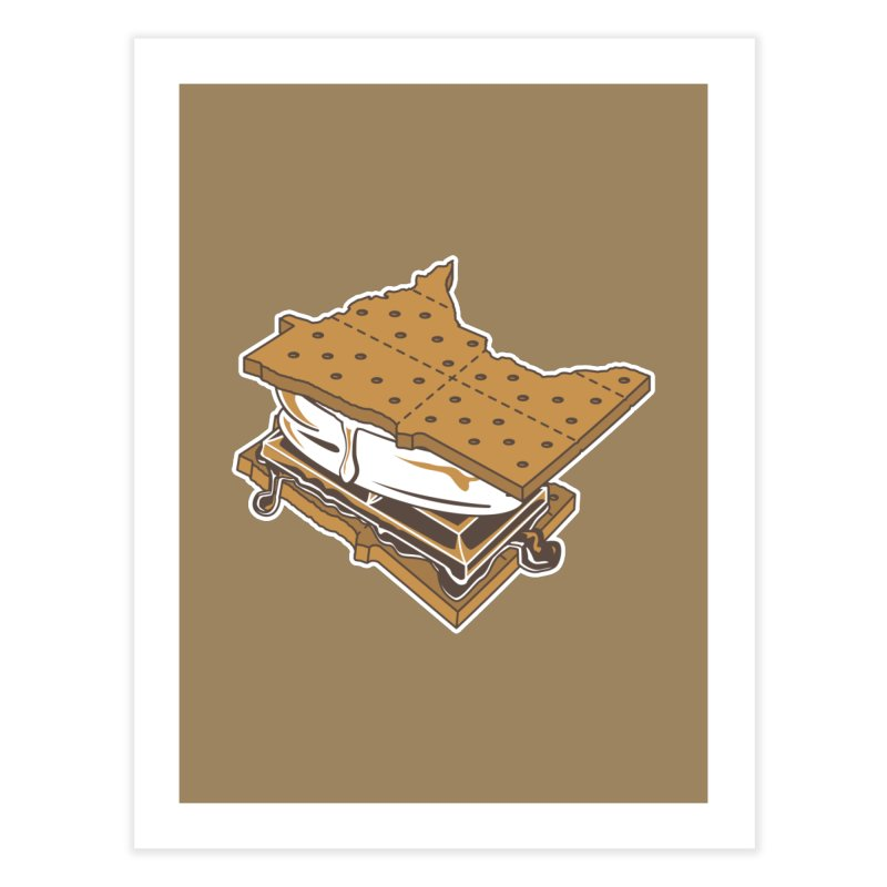 MinneS'moreta Star of the S'moreth Home Fine Art Print by Logo Mo Doodles, Drawings, and Designs