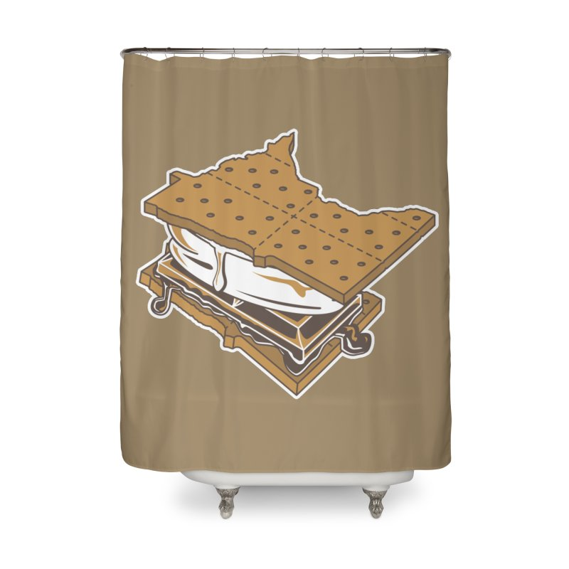 MinneS'moreta Star of the S'moreth Home Shower Curtain by Logo Mo Doodles, Drawings, and Designs