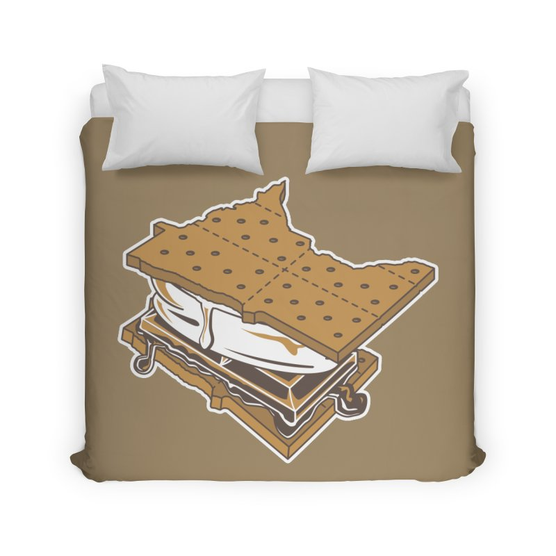 MinneS'moreta Star of the S'moreth Home Duvet by Logo Mo Doodles, Drawings, and Designs