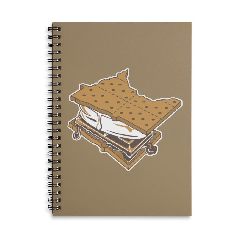 MinneS'moreta Star of the S'moreth Accessories Lined Spiral Notebook by Logo Mo Doodles, Drawings, and Designs