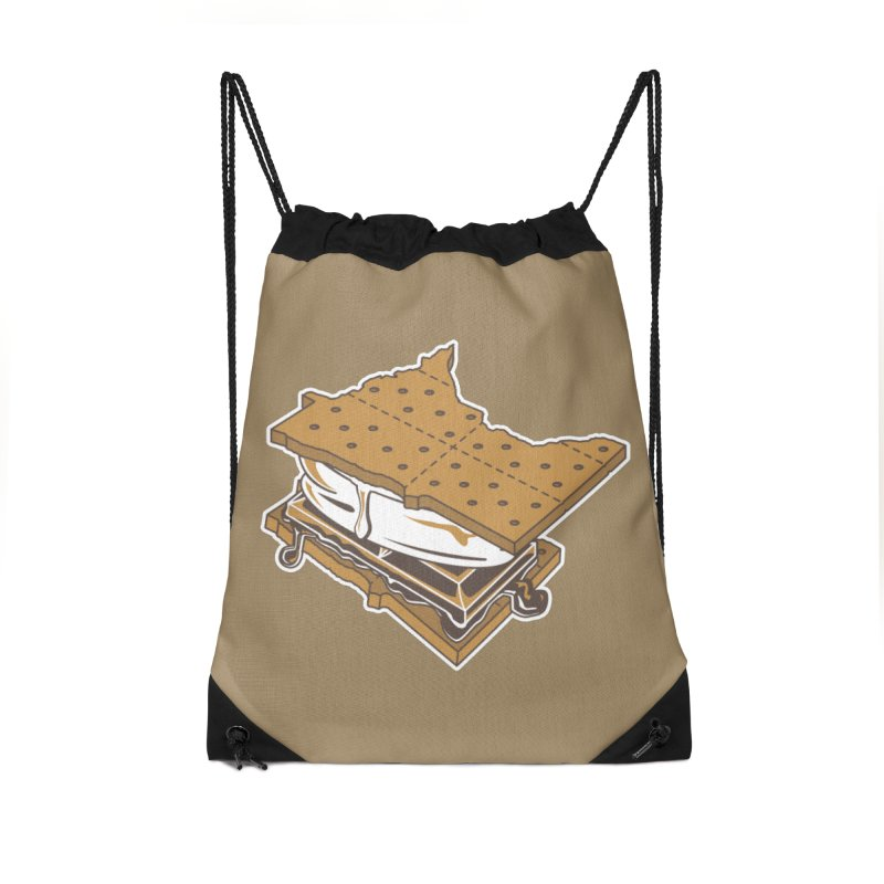 MinneS'moreta Star of the S'moreth Accessories Drawstring Bag Bag by Logo Mo Doodles, Drawings, and Designs