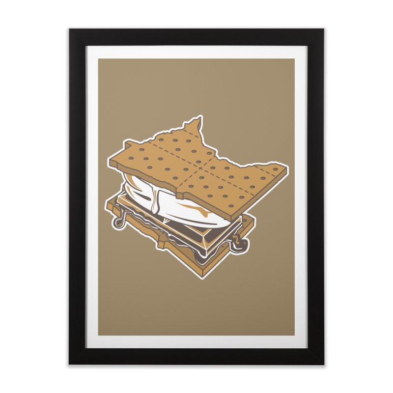 MinneS'moreta Star of the S'moreth Home Framed Fine Art Print by Logo Mo Doodles, Drawings, and Designs