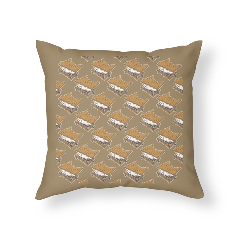 MinneS'moreta Star of the S'moreth Home Throw Pillow by Logo Mo Doodles, Drawings, and Designs