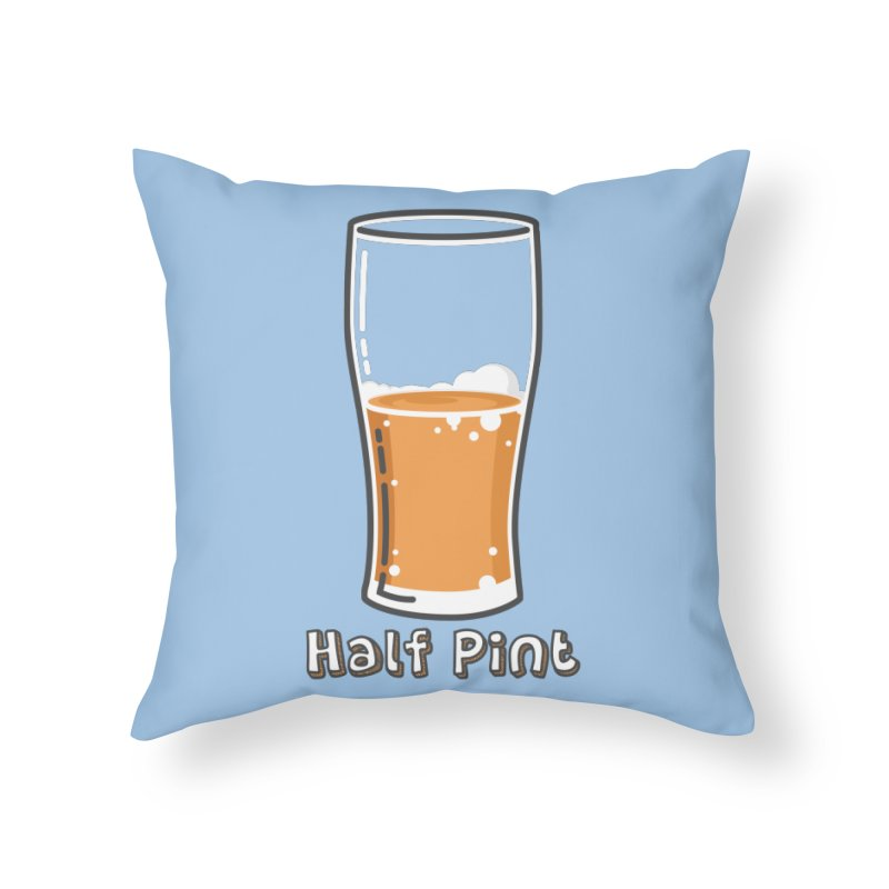Half Pint Home Throw Pillow by Logo Mo Doodles, Drawings, and Designs