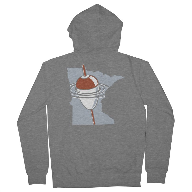 Minnesota Bobber Women's French Terry Zip-Up Hoody by Logo Mo Doodles, Drawings, and Designs