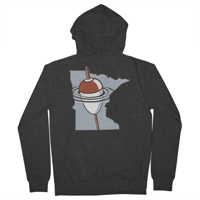 Minnesota Bobber Men's French Terry Zip-Up Hoody by Logo Mo Doodles, Drawings, and Designs