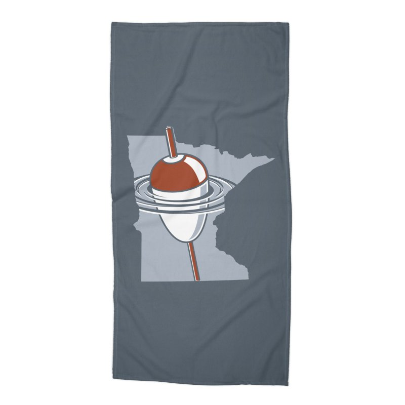 Minnesota Bobber Accessories Beach Towel by Logo Mo Doodles, Drawings, and Designs