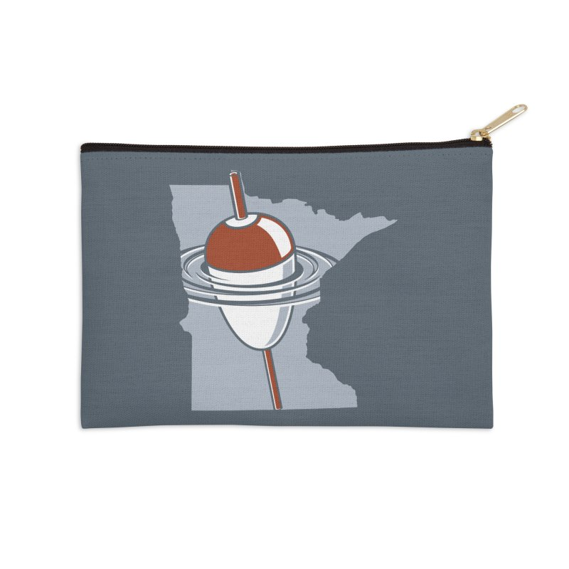 Minnesota Bobber Accessories Zip Pouch by Logo Mo Doodles, Drawings, and Designs
