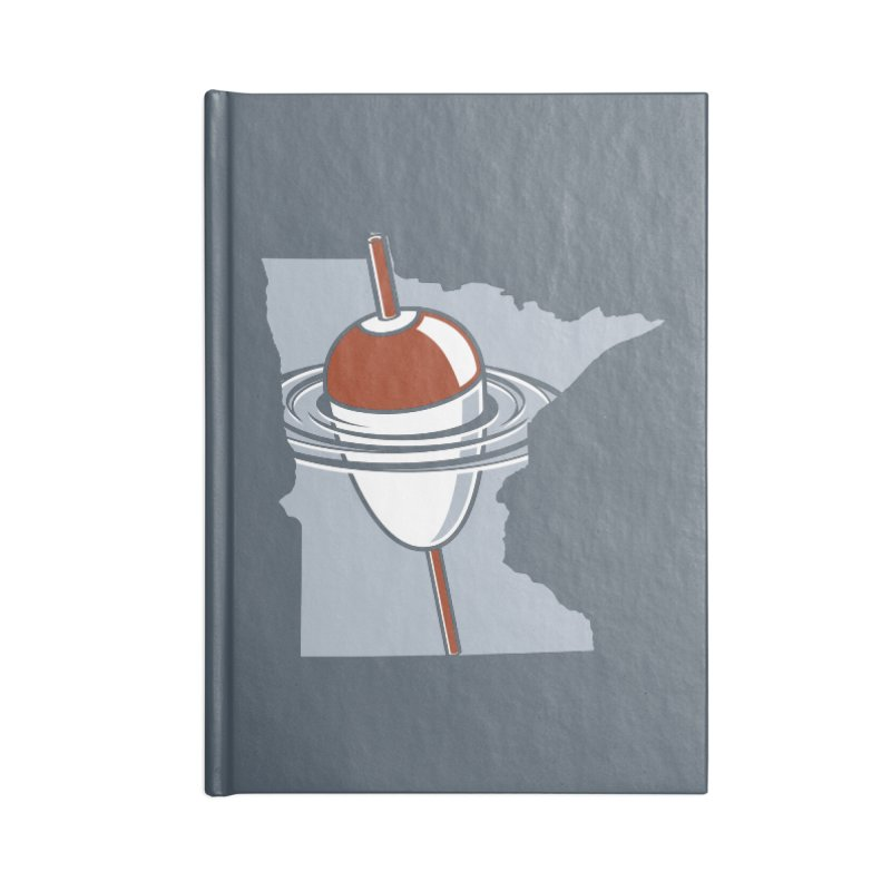 Minnesota Bobber Accessories Lined Journal Notebook by Logo Mo Doodles, Drawings, and Designs