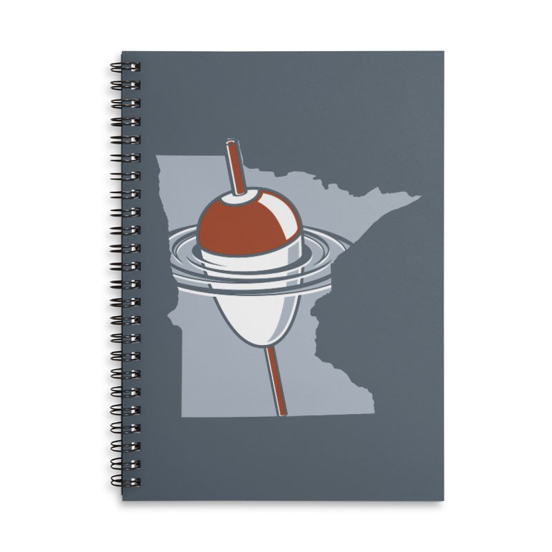 Minnesota Bobber Accessories Lined Spiral Notebook by Logo Mo Doodles, Drawings, and Designs