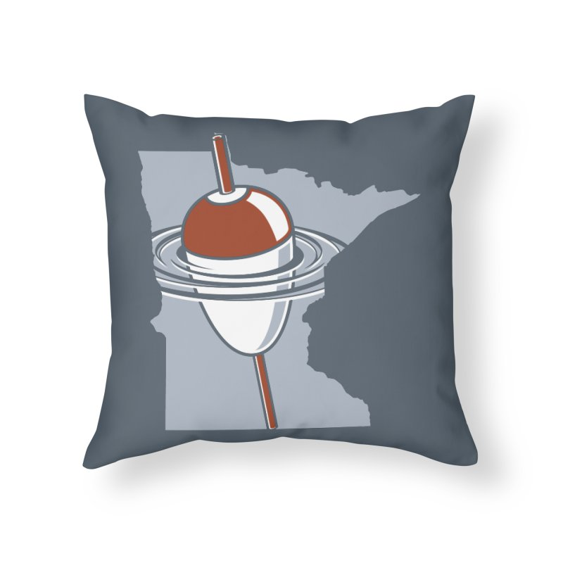 Minnesota Bobber Home Throw Pillow by Logo Mo Doodles, Drawings, and Designs
