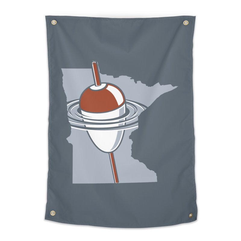 Minnesota Bobber Home Tapestry by Logo Mo Doodles, Drawings, and Designs