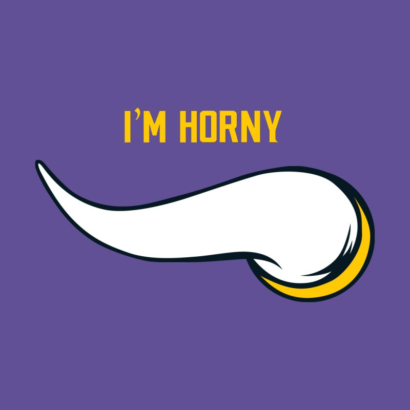 Horny Vikings Men's T-Shirt by Logo Mo Doodles, Drawings, and Designs