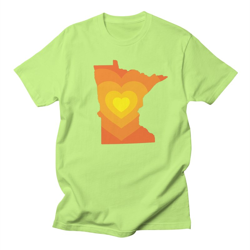 Heart of MN Men's T-Shirt by Logo Mo Doodles, Drawings, and Designs