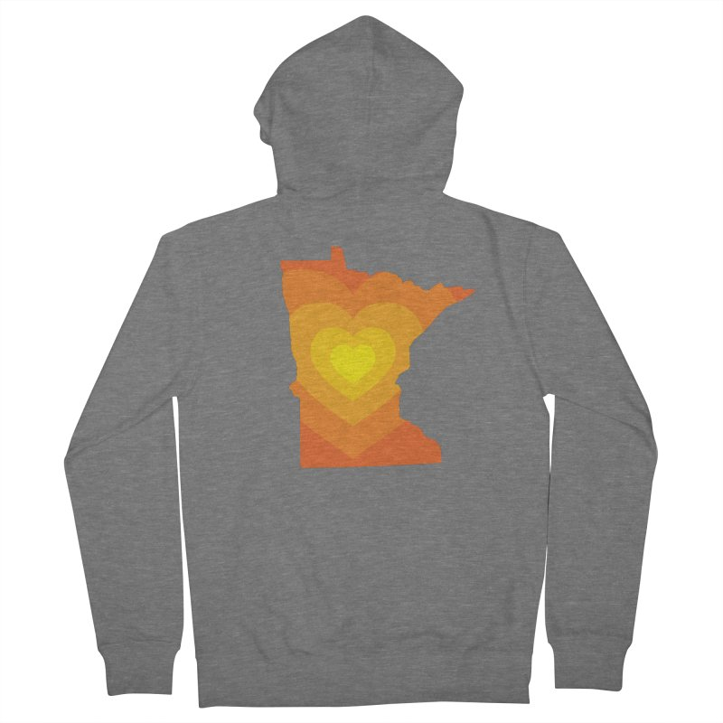Heart of MN Women's French Terry Zip-Up Hoody by Logo Mo Doodles, Drawings, and Designs