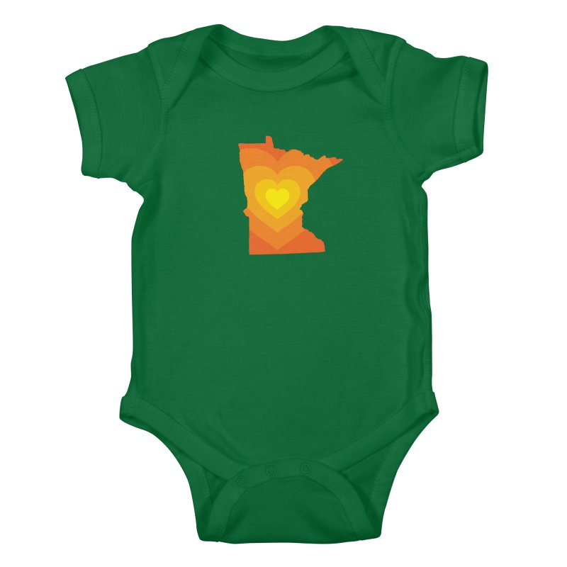 Heart of MN Kids Baby Bodysuit by Logo Mo Doodles, Drawings, and Designs