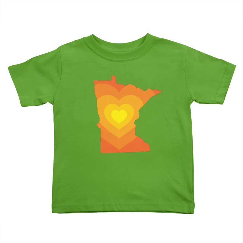 Heart of MN Kids Toddler T-Shirt by Logo Mo Doodles, Drawings, and Designs
