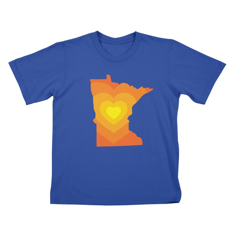Heart of MN Kids T-Shirt by Logo Mo Doodles, Drawings, and Designs
