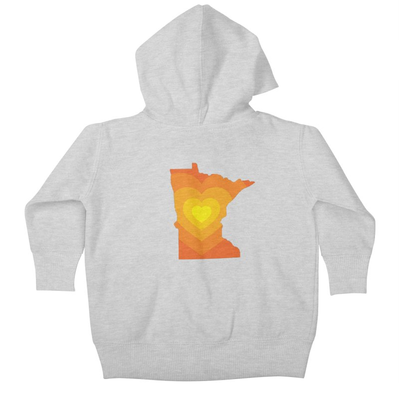 Heart of MN Kids Baby Zip-Up Hoody by Logo Mo Doodles, Drawings, and Designs