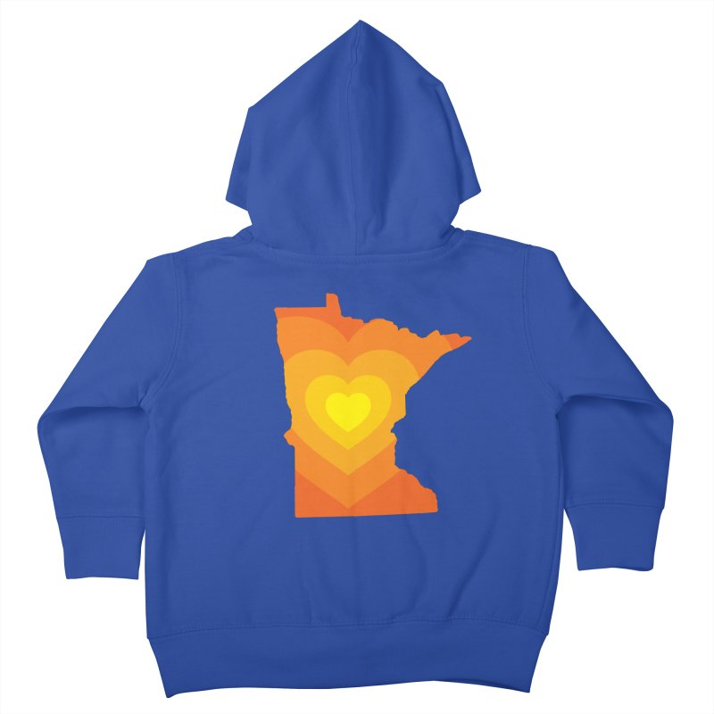 Heart of MN Kids Toddler Zip-Up Hoody by Logo Mo Doodles, Drawings, and Designs