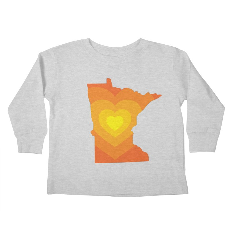 Heart of MN Kids Toddler Longsleeve T-Shirt by Logo Mo Doodles, Drawings, and Designs